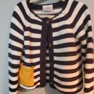 Hanna Andersson striped cardigan 100